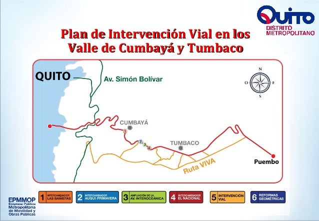 + Plan de Intervención Vial en losPlan de Intervención Vial en los Valle de Cumbayá y TumbacoValle de Cumbayá y Tumbaco