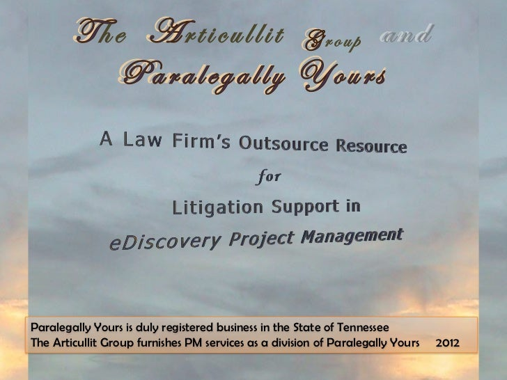 he               rticullit                   roupParalegally Yours is duly registered business in the State of TennesseeTh...
