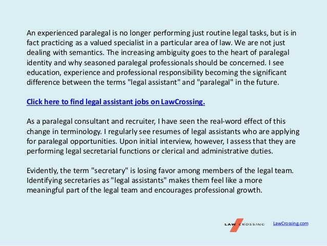 Writing Paralegal Resumes For Experienced and New Paralegals