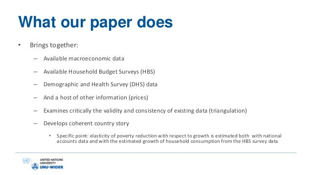 Parallel growth and poverty reduction in tanzania for Household survey questionnaire design