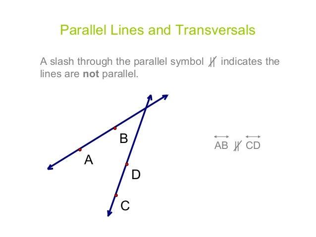 Parallel Lines Amp Transversals Edited