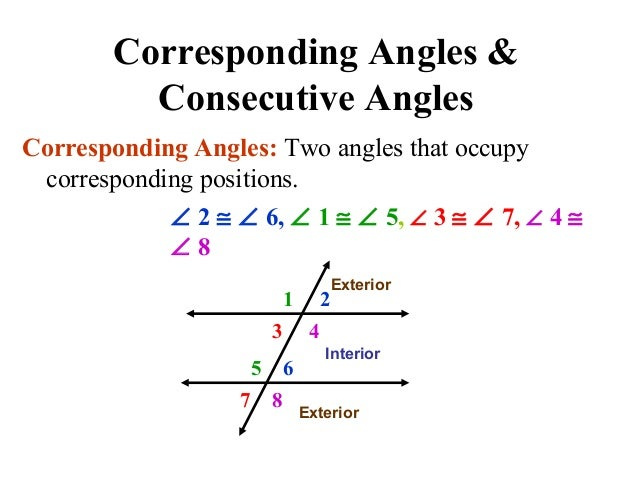 Parallel lines amp transversals edited - Same side exterior angles are congruent ...