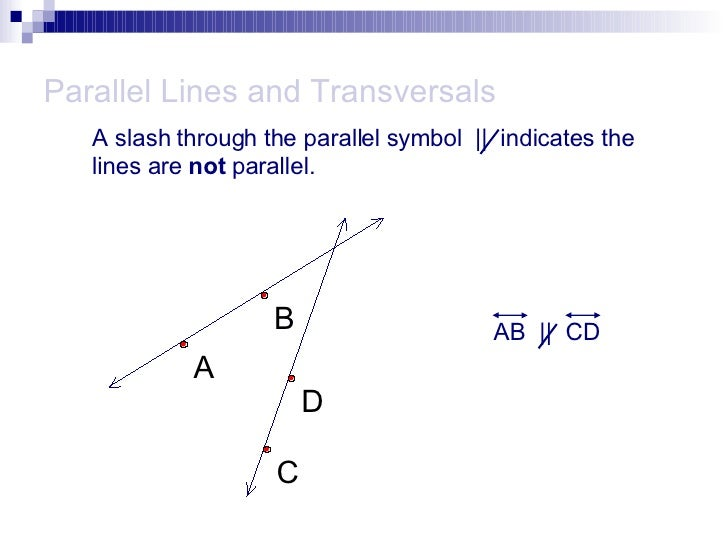 Parallel Lines With Transversals