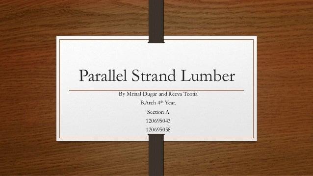 Image Of Laminated Veneer Lumber