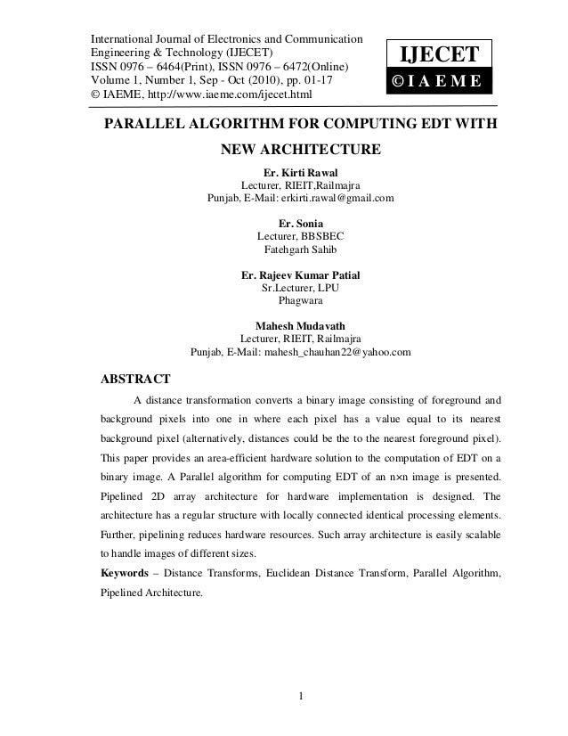 International JournalElectronics and Communication Engineering & Technology (IJECET),  International Journal of of Electro...