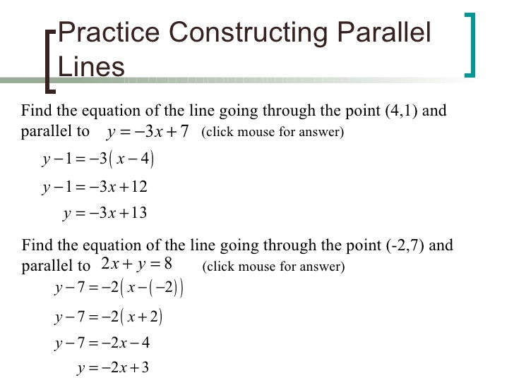 100+ [ Finding Equations Of Parallel And Perpendicular ...
