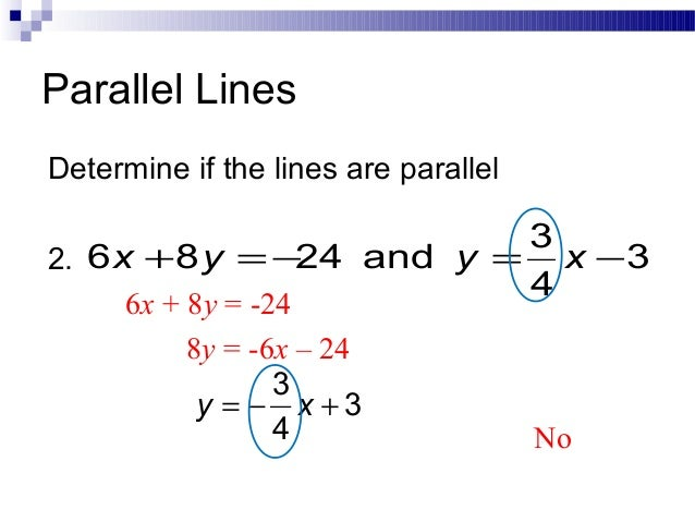Parallel and perpendicular slopes lines parallel lines determine ccuart Images