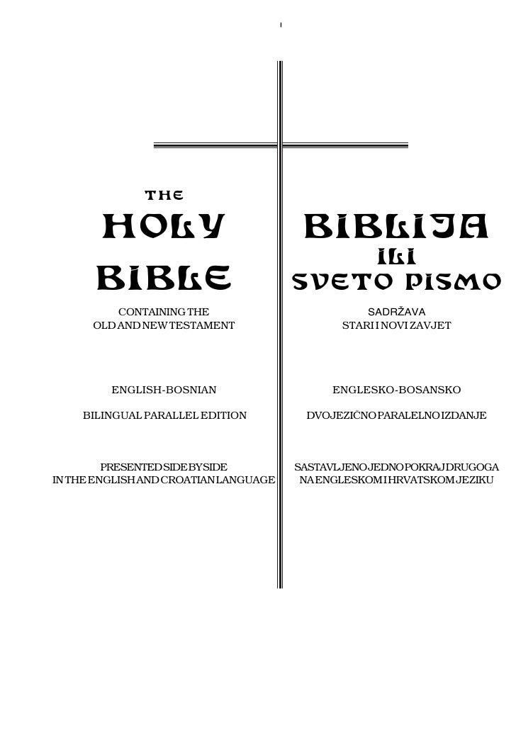 I              THE       HOLY                                 BIBLIJA                                               ILI   ...