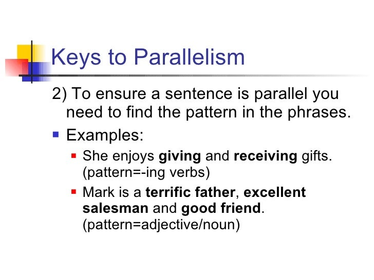 Parallelism in Writing Sentences with Examples