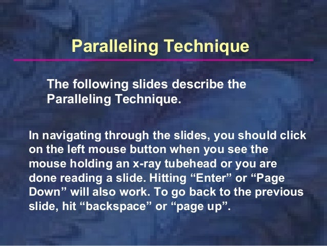 Paralleling Technique The following slides describe the Paralleling Technique. In navigating through the slides, you shoul...