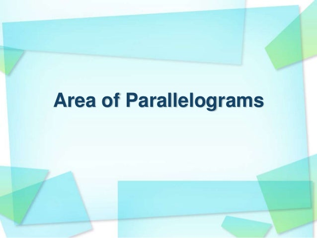 Image result for parallelograms area