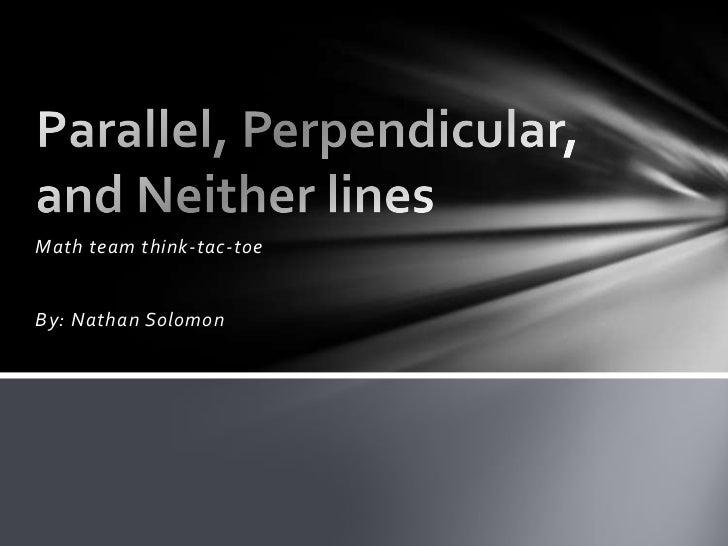 Math team think-tac-toeBy: Nathan Solomon