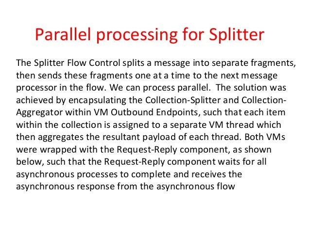 Parallel processing for splitter in mule esb
