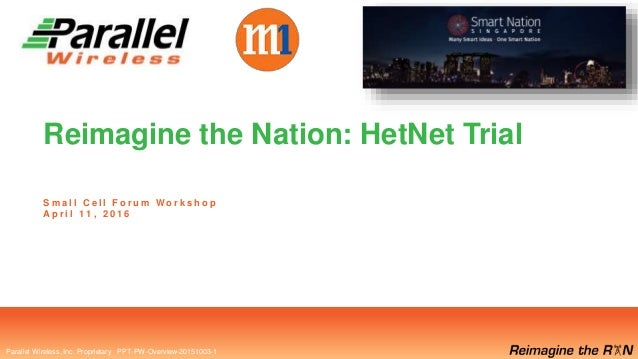 Parallel Wireless, Inc. Proprietary Parallel Wireless, Inc. Proprietary PPT-PW-Overview-20151003-1 Reimagine the Nation: H...