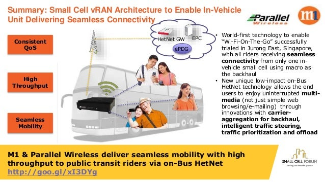 M1 & Parallel Wireless deliver seamless mobility with high throughput to public transit riders via on-Bus HetNet http://go...