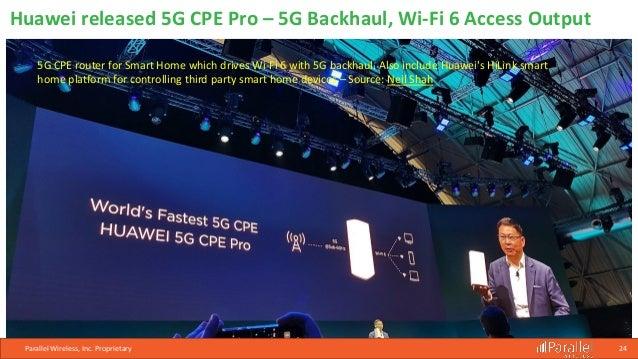 Parallel Wireless Webinar: 5G at #MWC19