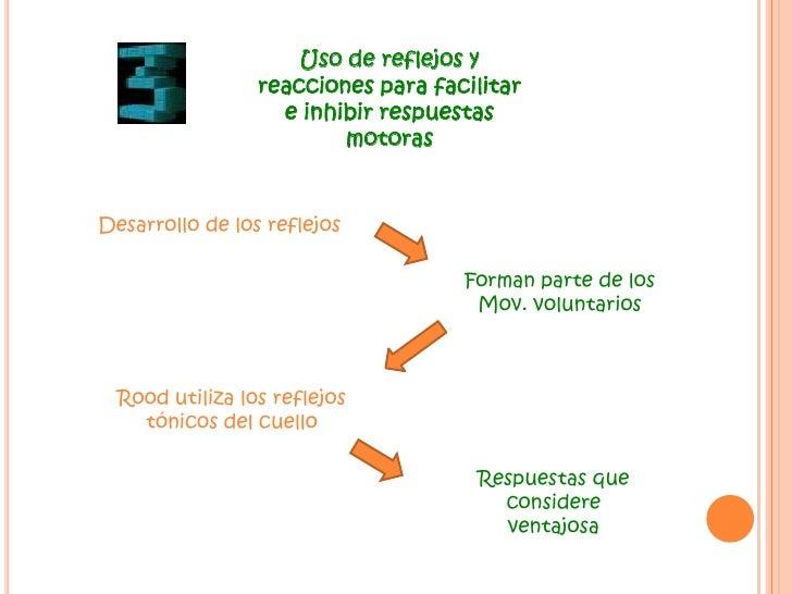 Uso de reflejos y reacciones para facilitar e inhibir respuestas motoras<br />Desarrollo de los reflejos<br />Forman parte...