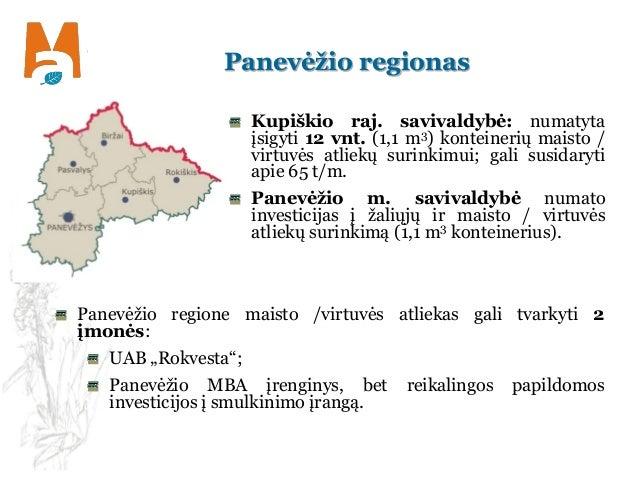 Panevėžio regionas Kupiškio raj. savivaldybė: numatyta įsigyti 12 vnt. (1,1 m3) konteinerių maisto / virtuvės atliekų suri...