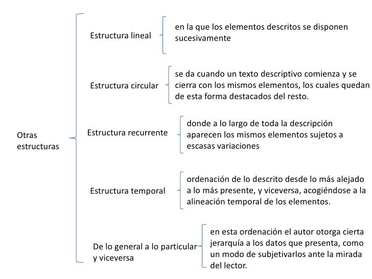 en la que los elementos descritos se disponen              Estructura lineal       sucesivamente                          ...