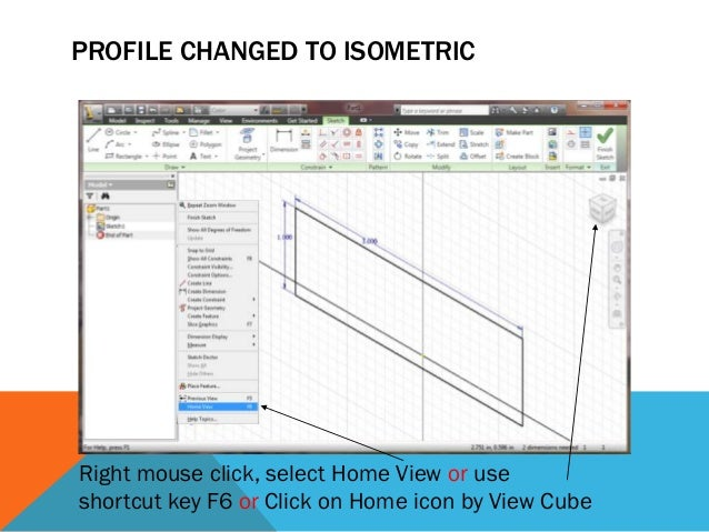 FEATURE PARAMETERS SET Isometric (Home) view selected, Extrusion dialog box set Choose cut operation here