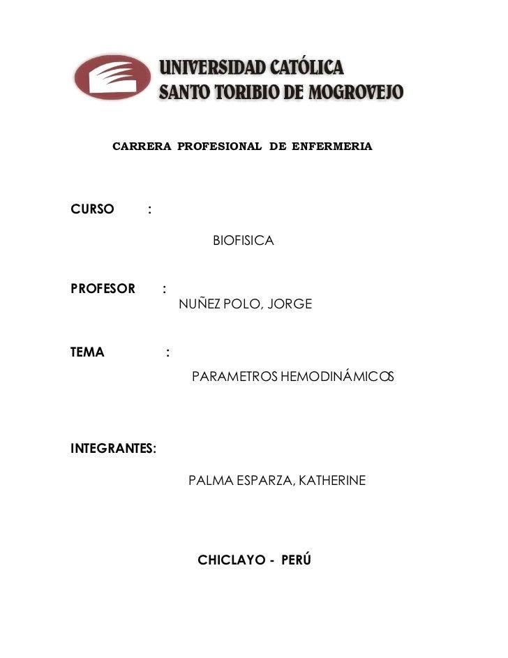 CARRERA PROFESIONAL DE ENFERMERIA     CURSO                :                                  T O R IB                    ...