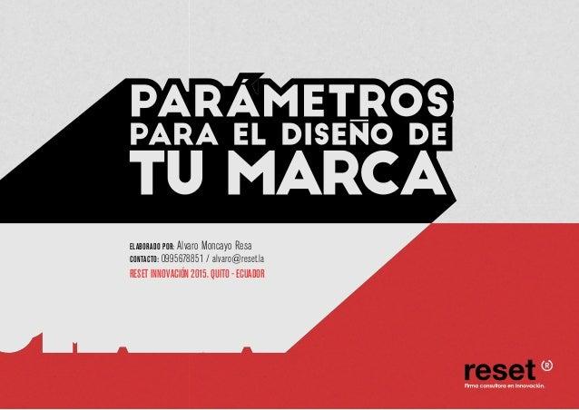 ELABORADO POR: Alvaro Moncayo Resa CONTACTO: 0995678851 / alvaro@reset.la RESET INNOVACIÓN 2015. QUITO - ECUADOR