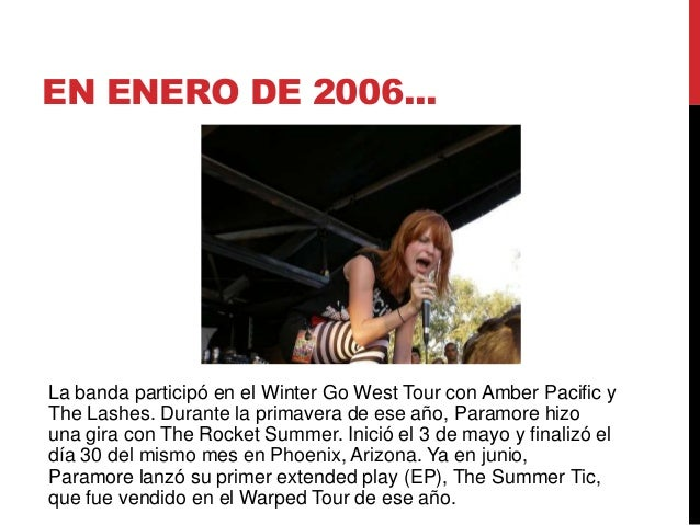 Paramore The Summer Tic Paramore is a Band (Bi...