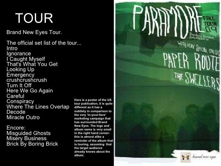 Paramore Tour Two Setlist 2017 | lifehacked1st.com Paramore Setlist