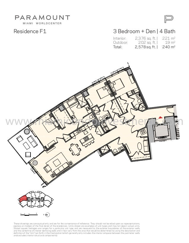 Paramount Miami Worldcenter Floor Plans