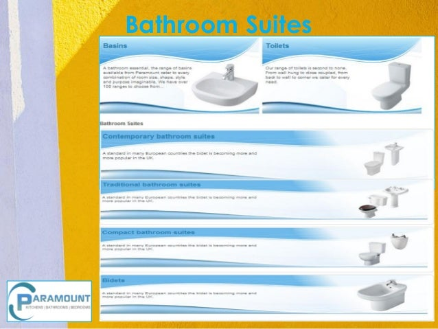 Bathroom Suites     Insert Product    Photograph Here