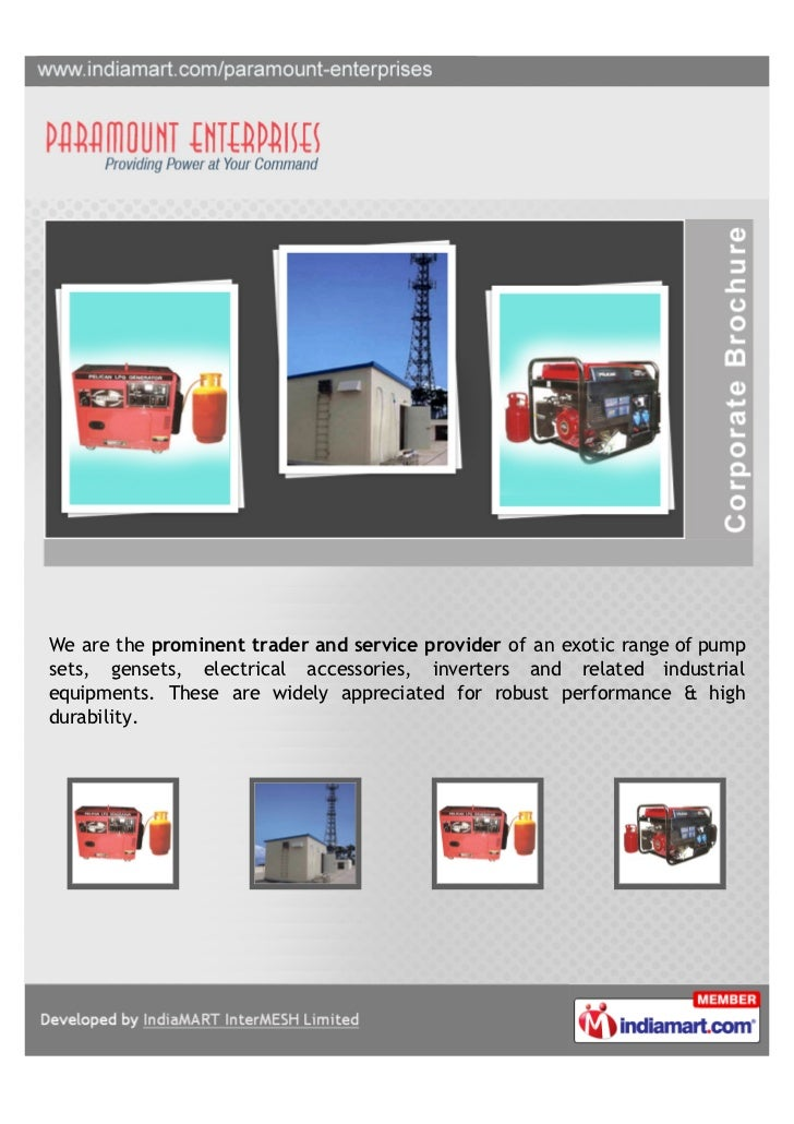 We are the prominent trader and service provider of an exotic range of pumpsets, gensets, electrical accessories, inverter...