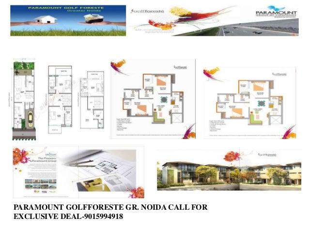 PARAMOUNT GOLFFORESTE GR. NOIDA CALL FOR EXCLUSIVE DEAL-9015994918