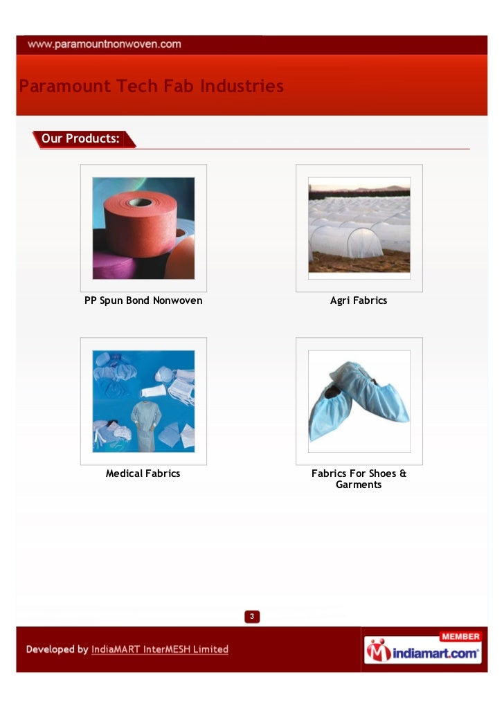 Paramount Tech Fab Industries, Delhi, SMS Fabric Slide 3