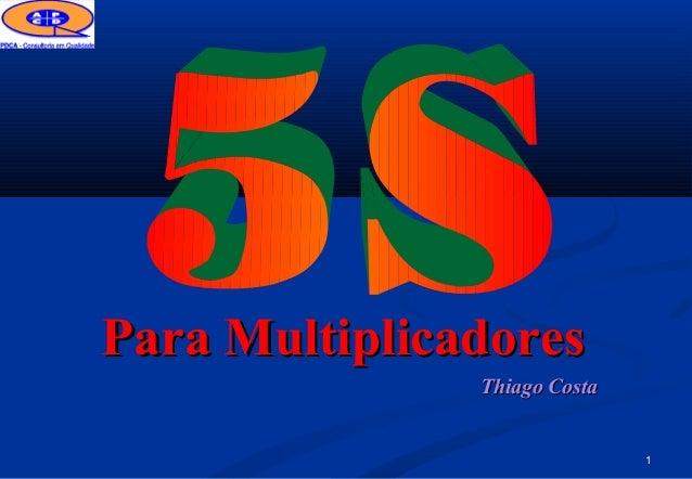 1 Thiago CostaThiago Costa Para MultiplicadoresPara Multiplicadores