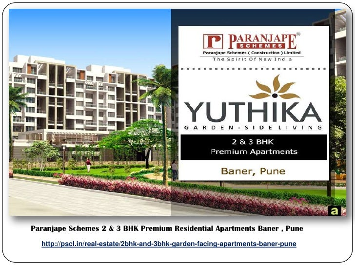 Paranjape Schemes 2 & 3 BHK Premium Residential Apartments Baner , Pune  http://pscl.in/real-estate/2bhk-and-3bhk-garden-...