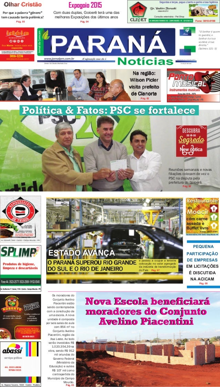 """Campo Mourão, 26 e 27 de junho de 2015 Expogoio 2015 Por que a palavra """"gênero"""" tem causado tanta polêmica? Pág. 03 Pág. 0..."""