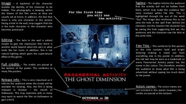 paranormal activity film poster analysis 2