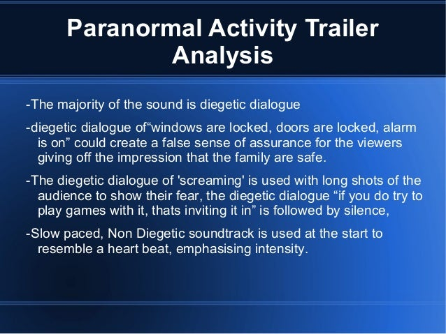 paranormal activity horror analysis Paranormal activity 2 is a 2010 american found footage supernatural horror film directed by tod williams and written by christopher b landon, .