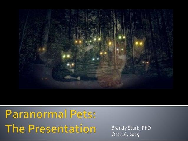 Brandy Stark, PhD Oct. 16, 2015