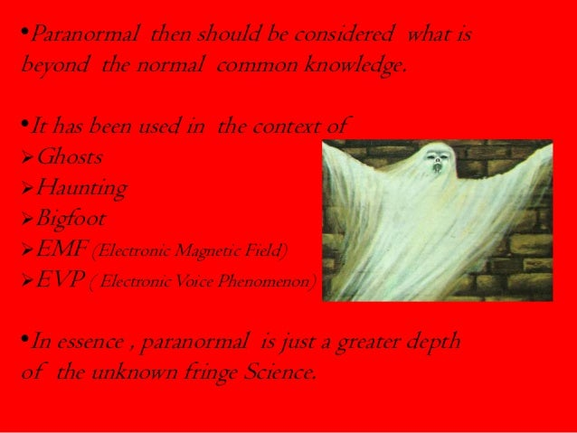 Paranormal Science