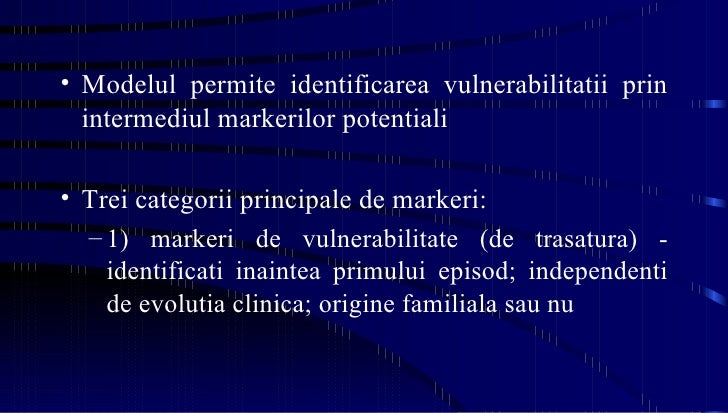 <ul><li>Modelul permite identificarea vulnerabilitatii prin intermediul markerilor potentiali </li></ul><ul><li>Trei categ...