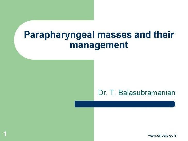 parapharyngeal tumor