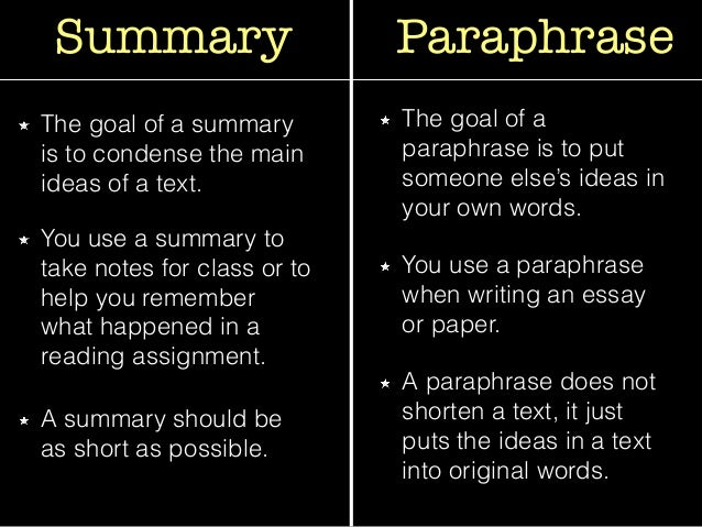 what is paraphrasing