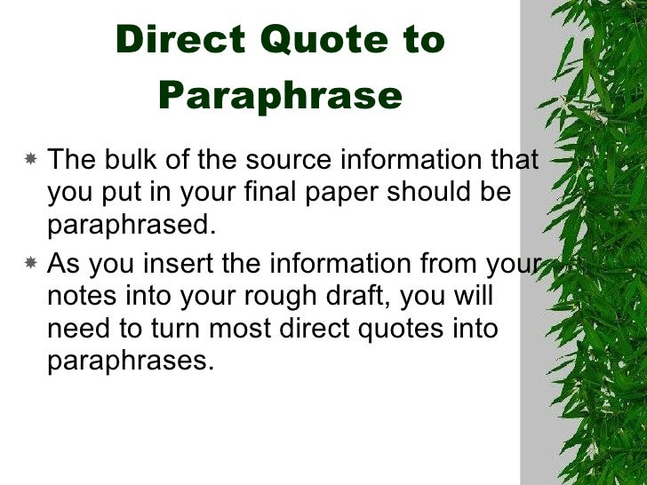 Paraphrasing program quotes