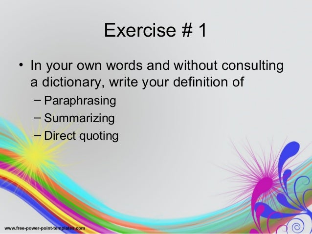 Avoiding plagiarism quoting paraphrasing and citing