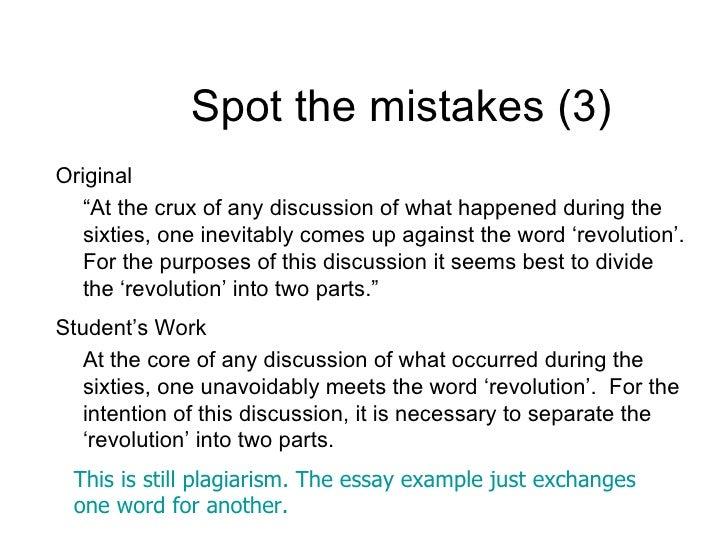 Paraphrasing and avoiding plagiarism