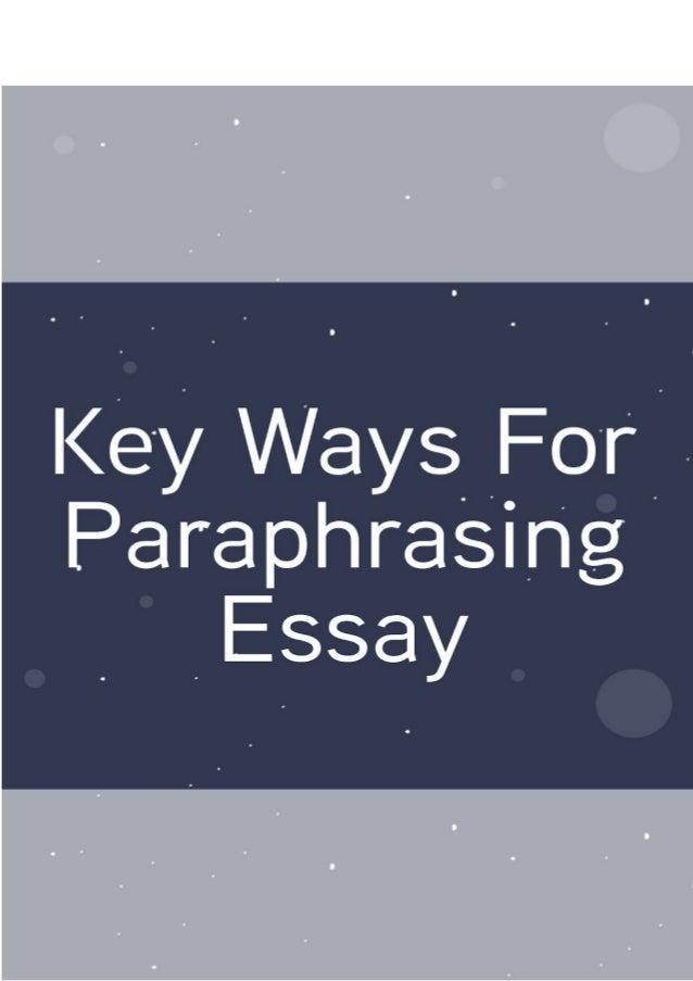 Paraphrasing in essays
