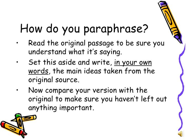 what does it mean to paraphrase