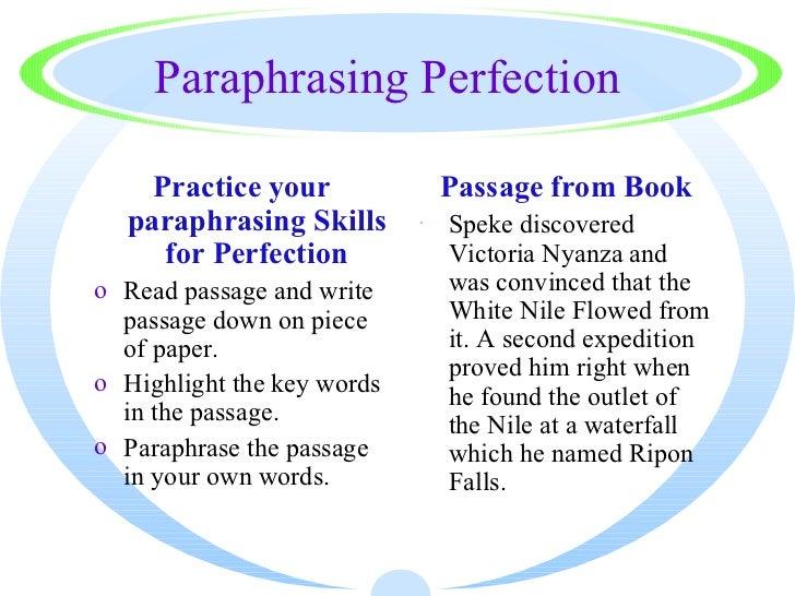 Paraphrasing a paragraph poem example