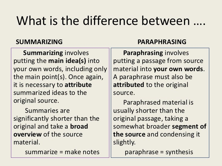 Summarising and paraphrasing worksheets